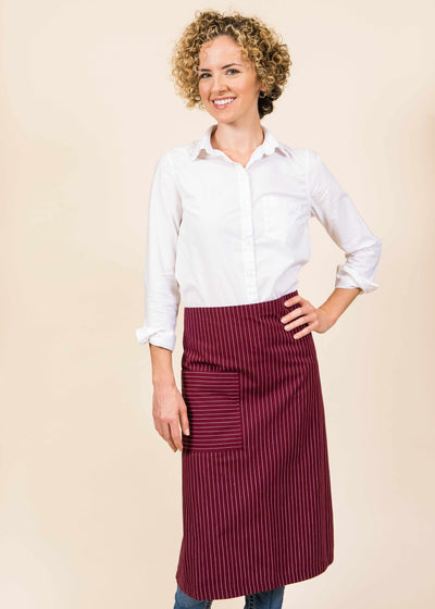 Full Striped Bistro Apron
