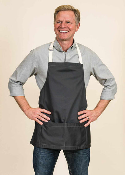 Mel Short Full Apron in Twill