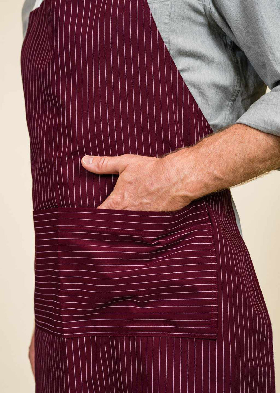 Tony Full Apron with Stripes