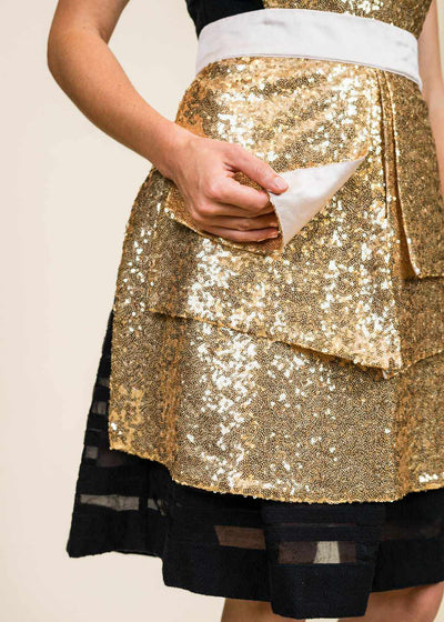 Manhattan Sequin Apron