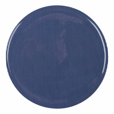 Silicone trivet blue fabric