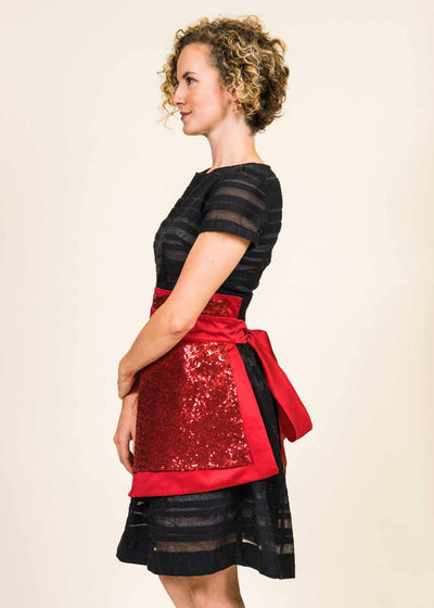 Women's Angel Sequin Apron
