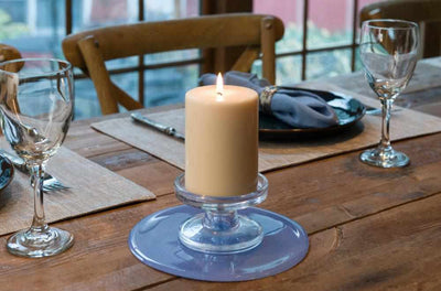 silicone trivet as candle holder centerpiece