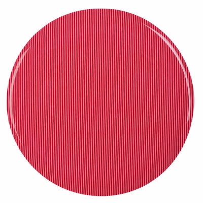 round kitchen hot pad, red