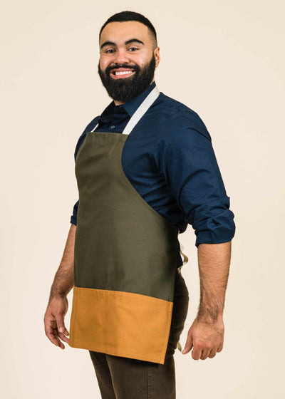 Short Full Apron in Duck Cotton