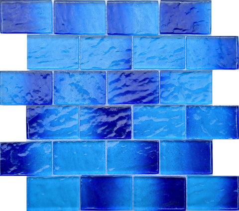 Blue Iceberg 2X3 - Pool Tile - Tiles and Deco