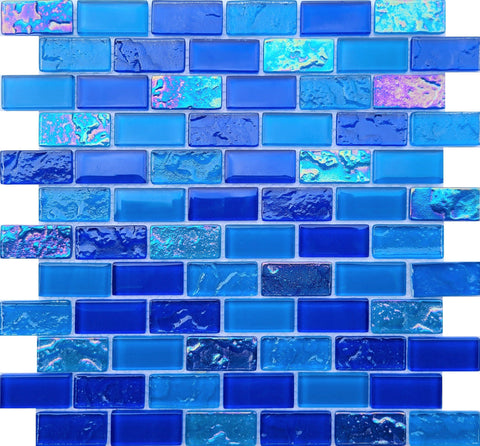 Bahamas Dark Blue 1X2 Pool tile - Tiles and Deco