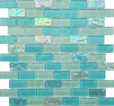 Bahamas Aqua 1X2 Pool tile - Tiles and Deco