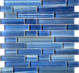 Hawaii Dark Blue Linear Glass tile - Tiles and Deco