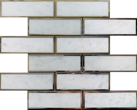 Carrara Bianco 2x6 Metal - Tiles and Deco