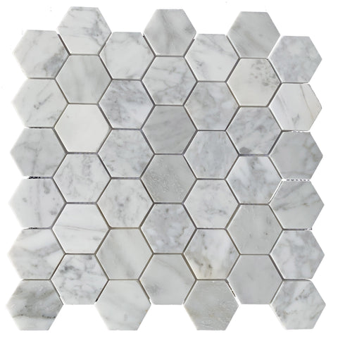 Carrara Hexagon Polished - Tiles and Deco