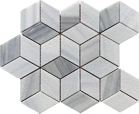 Rubik Hexagon Stone - Tiles and Deco