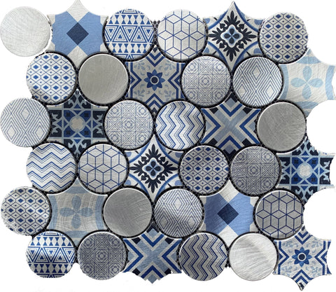 Hydraulic Metal Print - Tiles and Deco