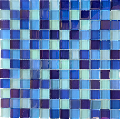 Iridescent Blue 1x1 - Pool Tile - Tiles and Deco