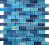 Kauai Blue 1X2 Pool Tile - Tiles and Deco