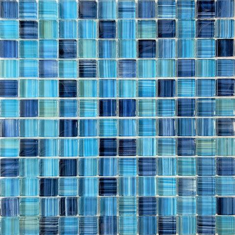 Kauai Blue 1X1 Pool Tile - Tiles and Deco