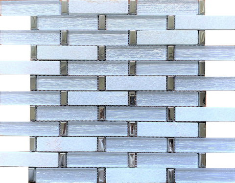 Luxe Stone White 1x4 - Tiles and Deco
