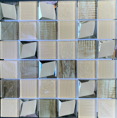 Modern Beige Glass Tile - Tiles and Deco