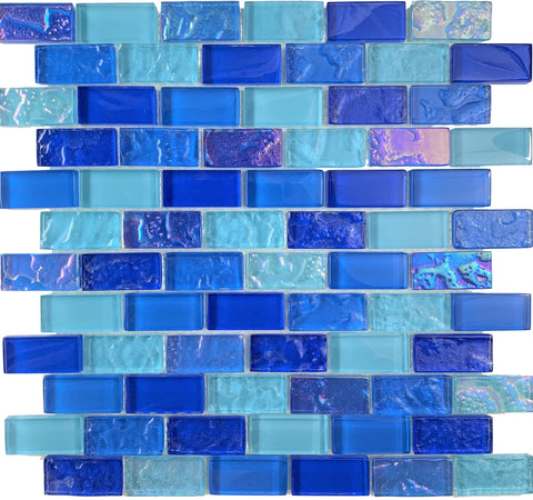 Caribbean 1X2 Glass tile - Tiles and Deco