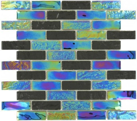 Bahamas Linear Black Tile 1x3 - Tiles and Deco