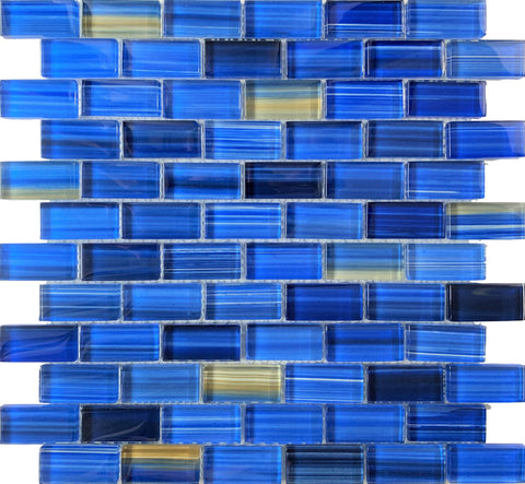 Pineapple Blue 1x2 Pool Tile - Tiles and Deco