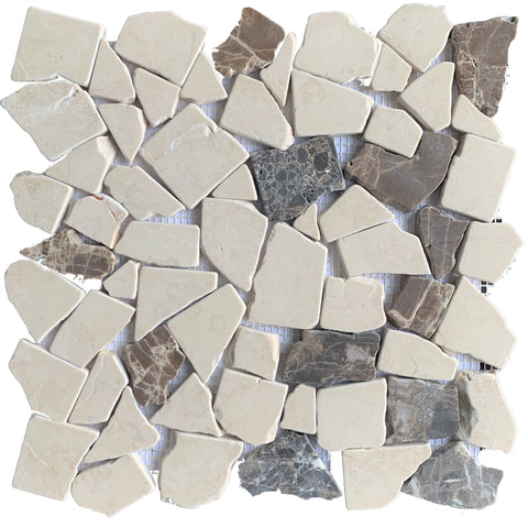 Rivera Pebble Emperador - Tiles and Deco