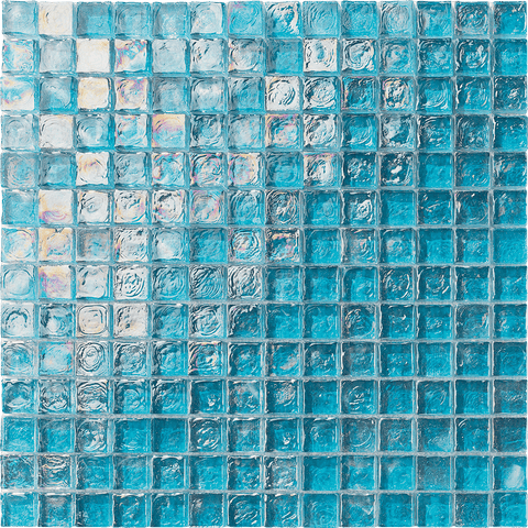 "TURQUOISE 1"" x 1"" - Poured Glass - Tiles and Deco"