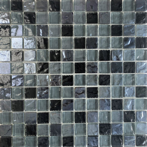 Volcanic Black 1x1 - Pool Tile - Tiles and Deco