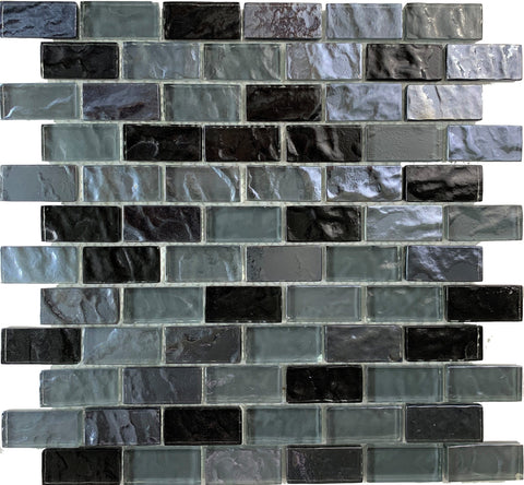Volcanic Black 1x2 - Pool Tile - Tiles and Deco