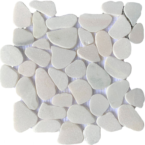 White Pebble Quartz - Tiles and Deco