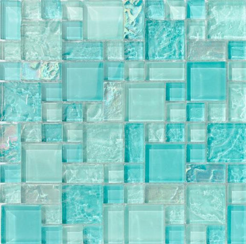 Bahamas Aqua Mix Pool tile - Tiles and Deco
