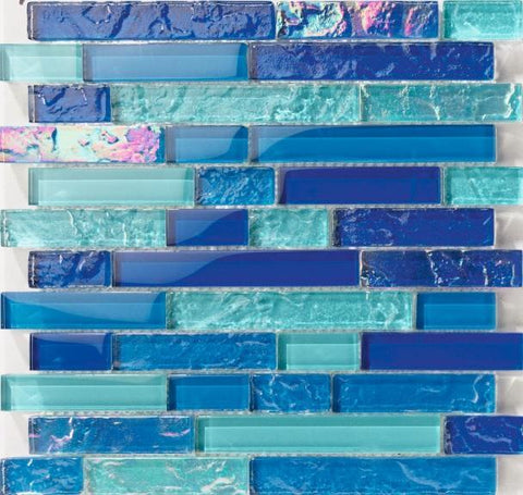 Bahamas Light Blue Linear Pool Tile - Tiles and Deco
