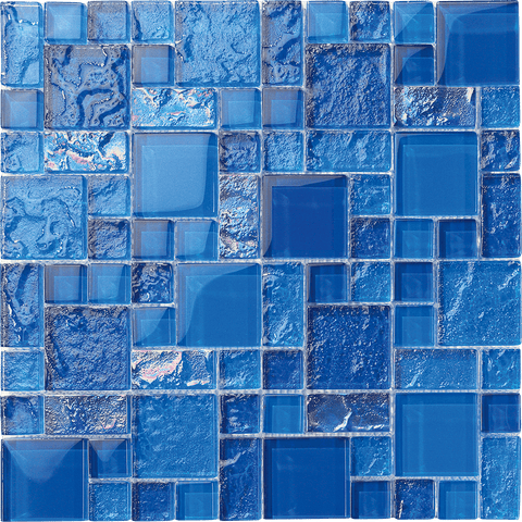 Bahamas Dark Blue Mix - Pool tile - Tiles and Deco
