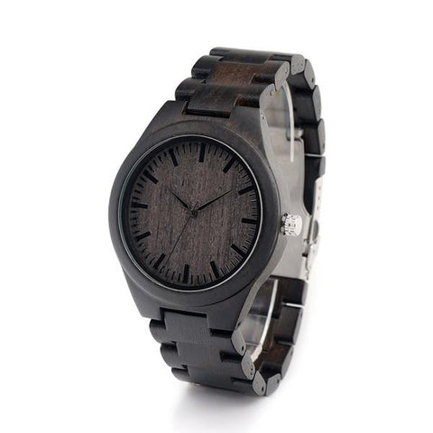 Men's Sandalwood Ebony Wood Wristwatch