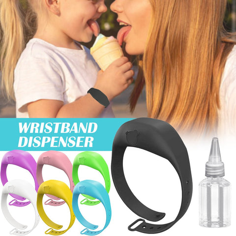 Wristband Hand Dispenser Hand Sanitizer Dispensing Silicone Wearable Dispenser Pumps Disinfecta Wristbands Hand Wrist Band#3