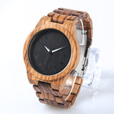 Zebra Wood Quartz Watch for Man - Wrist Watches - TiltedHead
