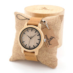 Natural Wood Bamboo Watches With Genuine Leather Band - Wrist Watches - TiltedHead