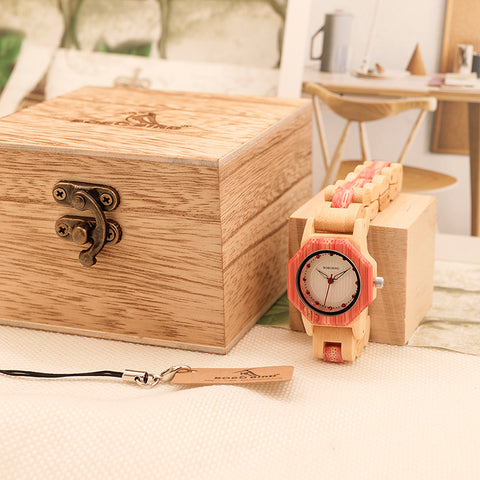 Bamboo Wood Watch with Octagonal Dial - Wrist Watches - TiltedHead