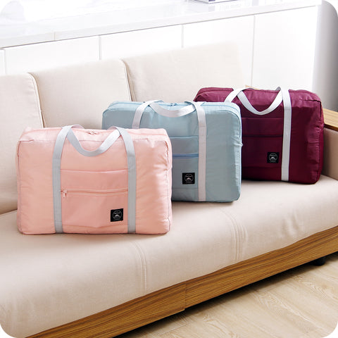 Foldable Women Travel Luggage Bag with Pouch - Bags - TiltedHead