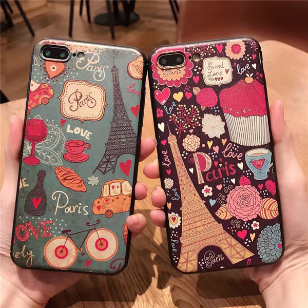 Paris life 3D Silicone Case for iPhone - Phone Cases - TiltedHead