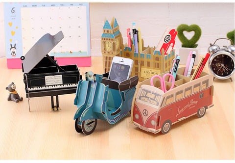 Crafty Offbeat Wooden Pens Stands - Pen Stand - TiltedHead