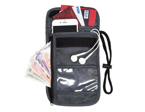 Passport Wallet with RFID Safety -  - TiltedHead