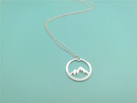 Snowy Mountain Range Necklace - Necklace - TiltedHead
