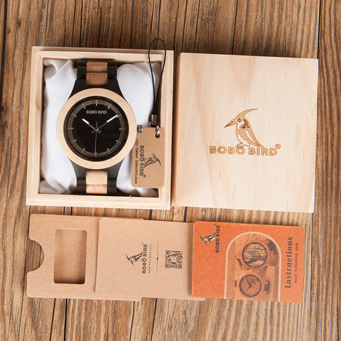 Male Antique Wooden Watches with Wooden Band Fashion packed in wooden Box - Wrist Watche - TiltedHead