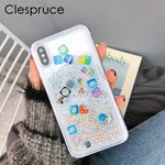 Glitter Liquid  Mobile apps Icon Phone Case cover For iPhone