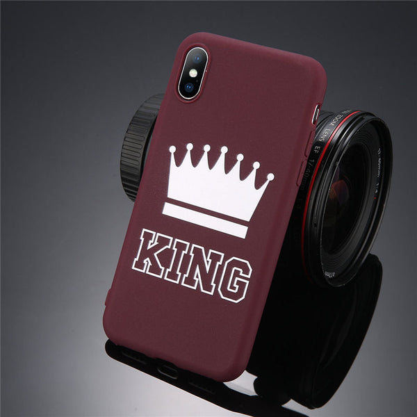 andy Color King Queen Crown Phone Cases For iPhone
