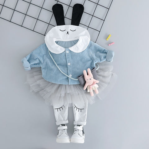 Cartoon Rabbit Coats TUTU Pants for Baby Girl