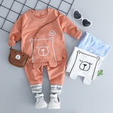 Cartoon Bear T Shirt Pants for Baby Girls