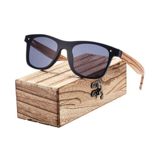 UV400 Zebra Wood Sunglasses for Men