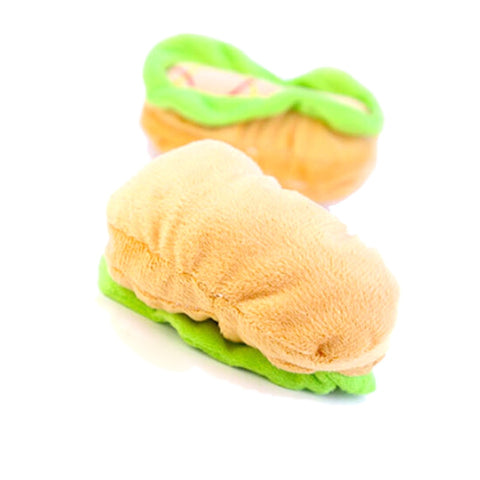 Cute Hamburger Shaped Chew Toy
